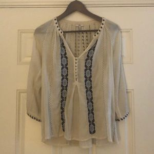 Joie embroidered top